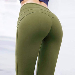 Solid Patchwork High Waist Fitness Leggings - New Trend Clothing