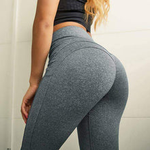 Load image into Gallery viewer, Solid Patchwork High Waist Fitness Leggings - New Trend Clothing
