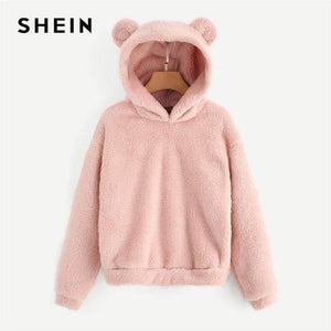 Soft Lovely Hoodie With Bear Ears - New Trend Clothing