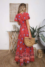 Load image into Gallery viewer, Summer Floral Print Boho V-neck High Split Beach Maxi Dresses - New Trend Clothing