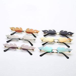 Fire Flame Rimless Sunglasses - New Trend Clothing