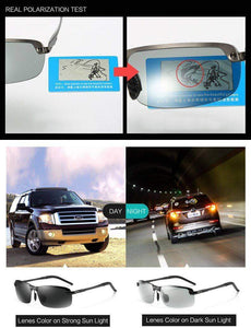 HD Polarized Men Photochromic Sunglasses - New Trend Clothing