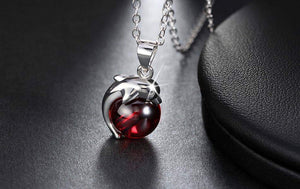 Lovely Red Stone Dolphin Animal Pendants - New Trend Clothing