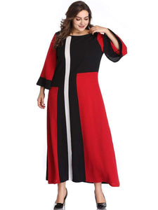 Multicolor Summer O Neck Flare Sleeve Loose Oversized Dress - New Trend Clothing