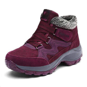 Women Warm Plush Waterproof Snow Boots - New Trend Clothing