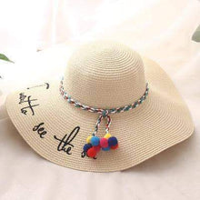 Load image into Gallery viewer, UV Protect Summer Beach Straw Hat - New Trend Clothing
