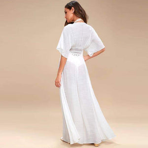 Daisy Long Kaftan Tunics Beach Cover Up - New Trend Clothing