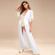 Load image into Gallery viewer, Daisy Long Kaftan Tunics Beach Cover Up - New Trend Clothing
