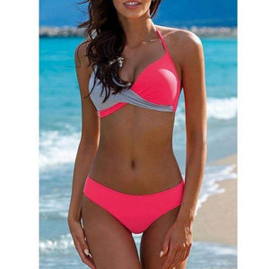 Aliyah Halter Top Retro Swimwear - New Trend Clothing