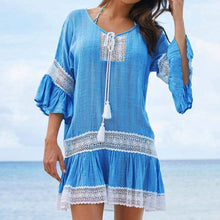 Load image into Gallery viewer, Missy Cotton Tunics Beach Cover Up - New Trend Clothing