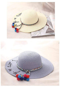 UV Protect Summer Beach Straw Hat - New Trend Clothing