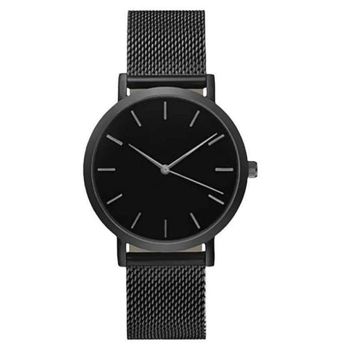 Crystal Stainless Steel Analog Quartz Wrist Watch - New Trend Clothing