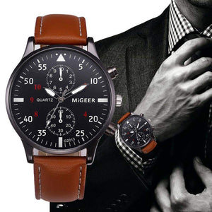 Retro Design Leather Band Watch For Men - New Trend Clothing