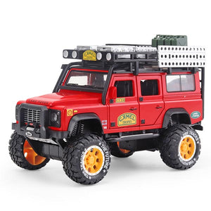 Land Rover Scale Model Car | Defender Camel Cup Racing SUV Toy Car