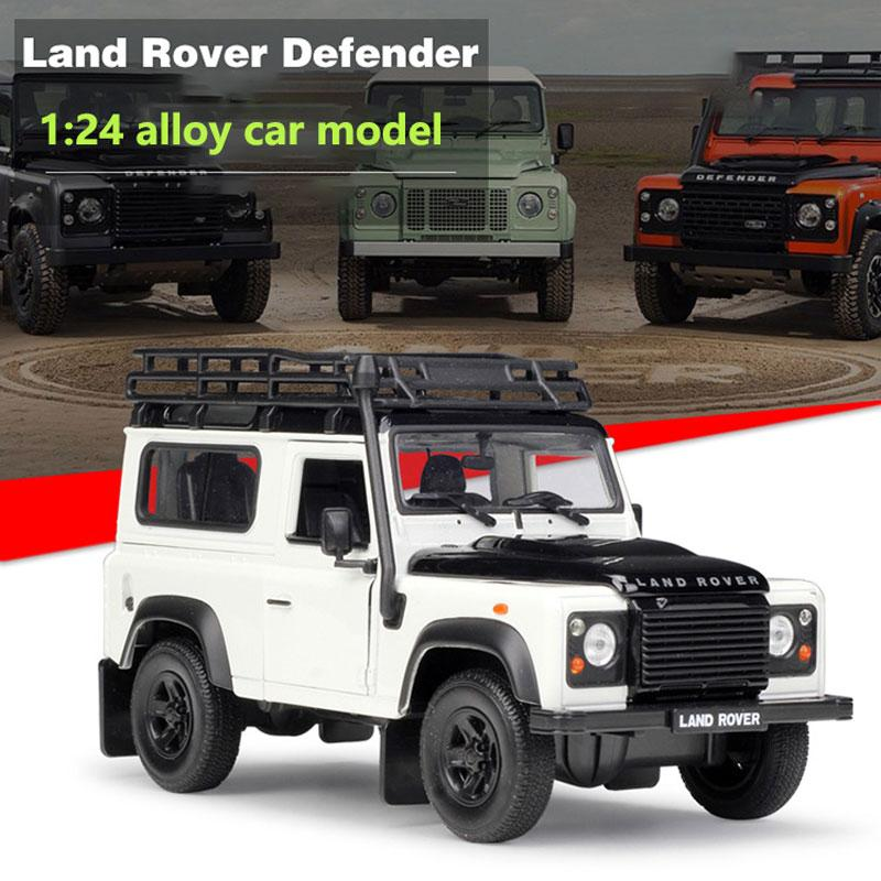 Land Rover Models >> Land Rover Defender Model Cars 1 24 Scale 3 Colors