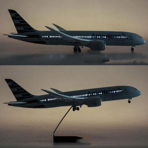 Upgrade with LED | Boeing B787 1:130 Scale Model Airplane | American Airlines