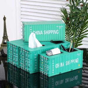 Ship Container Model Decoration Storage Box