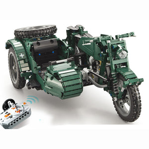 Two-seater Motorcycle Building Block Remote Control Car | Kamory-us