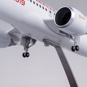China Commercial Aircraft C919 Simulation Civil Aviation Aircraft Model Airbus Proportion Ratio 1:82