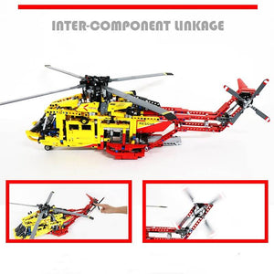Assembling Blocks- Rescue Helicopter Model
