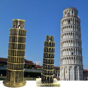 World famous building Leaning Tower of Pisa, Italy Creative Decoration