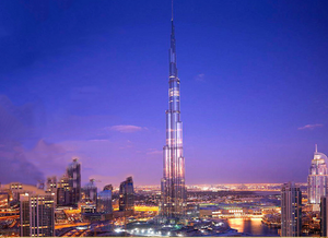 World Landmark Building Dubai Burj Khalifa Creative Decoration