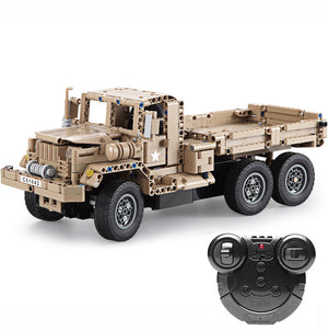 Military Truck Building Block Remote Control Car | Kamory-us