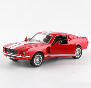 Diecast Toy Model Car | 1967 Ford Mustang GT500 With Pull Back Light & Sound | Kamory-us