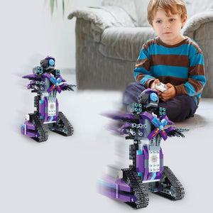 APP intelligent programming remote control building block robot