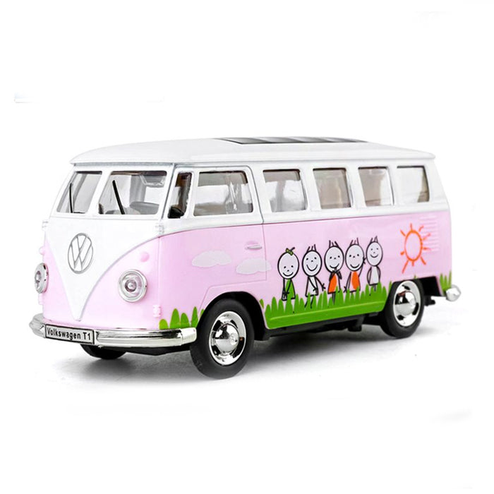1:30 Scale Volkswagen 1962 Class Bus T1 Die Casting Model Car