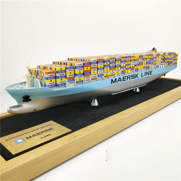 Maersk Line Model Ship | Container Cargo Ship 1:1000 Scale Freighter