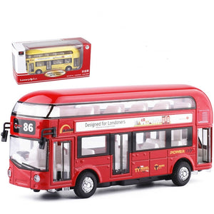 Alloy double deck London bus