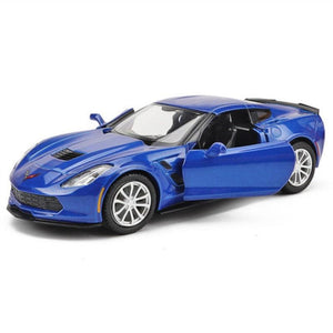 1:36 Scale Chevrolet Corvette Model Cars | C7 Diecast Toy Car