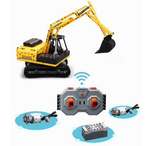 Remote Control Building Block Excavator For Kids | Kamory-us