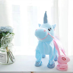 Walking Unicorn Plush Toy【The best holiday gift for children】