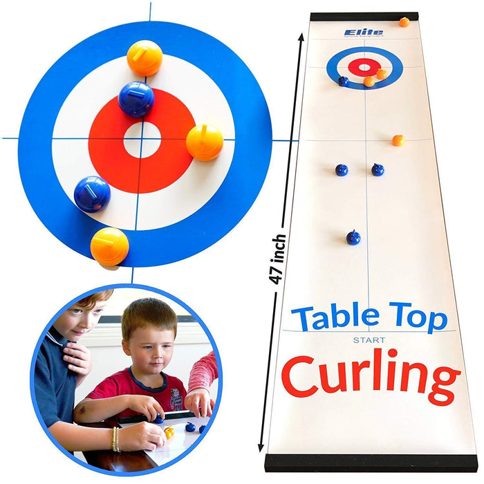 Black friday Special-Tabletop Bulls Eye Curling Game  (Original 2019 Version)