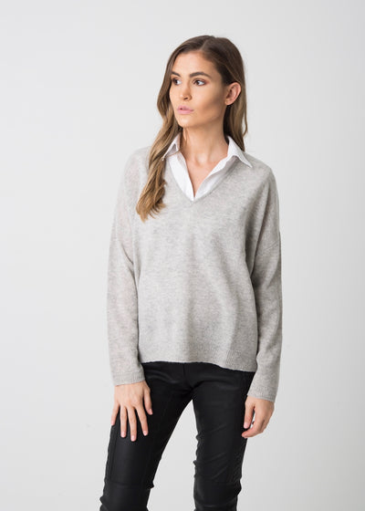 Slouchy V-Neck Sweater