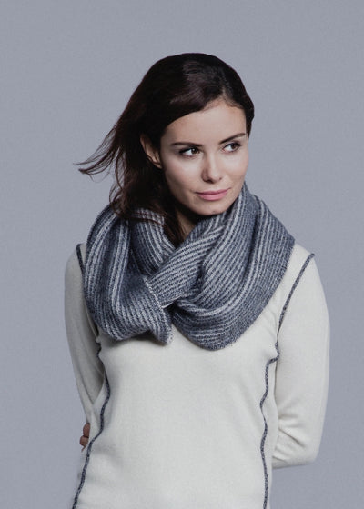 Doubled Sided Ribbed Infinity Scarf
