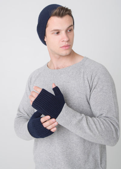 Fingerless Ribbed Mittens