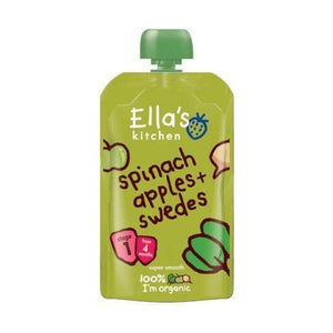 Ella'S Kitchen (Vegetarian) Organic Spinach, Apple & Swede Baby Food 120g