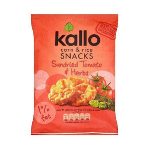 Kallo Foods Sundried Tomato and Herb Corn & Rice Snacks 25g