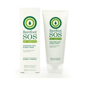 Barefoot Sos Dry + Sensitive Face & Body Rescue Wash 200ml