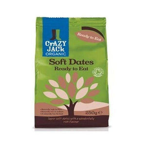 Crazy Jack Organic RTE Soft Dried Dates 250g