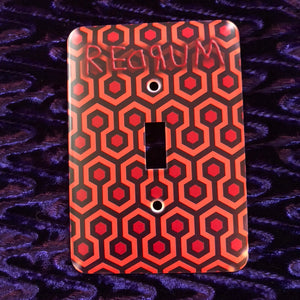 REDRUM The Shining Overlook Hotel - Gothic Horror Metal Light Switch Plate Cover
