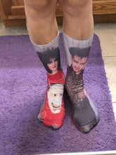 Load image into Gallery viewer, Robert and Siouxsie Full Printed Knee Socks
