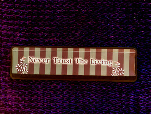 Never Trust The Living Beetlejuice - Gothic Horror Shopping Cart Handle Cover