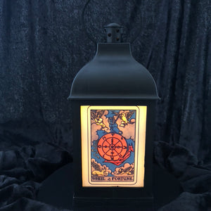 "10"" Tarot Card Gothic Lantern - LED candle included"