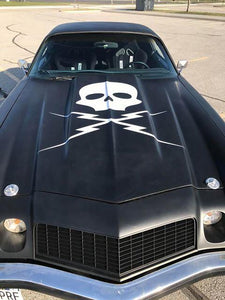 3' X 3' Death Proof Skull and Bolts Wall / Car Decal - Pillbox Designs