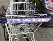 Load image into Gallery viewer, Never Trust The Living Beetlejuice - Gothic Horror Shopping Cart Handle Cover