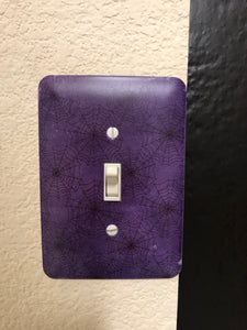 Spiderweb Light Switch Plate Cover